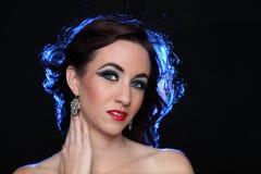 Glamourportret van Mooi Brunette stock afbeelding