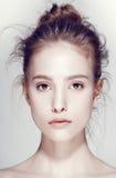 Glamourportret van mooi vrouwenmodel met Stock Foto