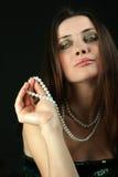 glamoursnobbkvinna Arkivfoto