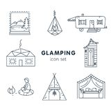 Glamping - pictogram voor uw project wordt geplaatst dat royalty-vrije stock fotografie