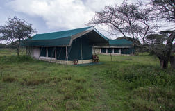 Glamping on the Serengeti Royalty Free Stock Photo