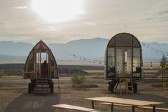 Glamping w kalifornijczyk pustyni fotografia stock