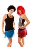 glamrock för 3 flickor Arkivbild