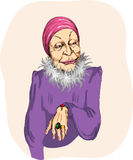 Glamurnaya old woman Royalty Free Stock Photos