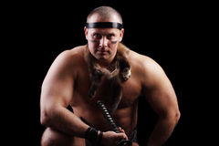 Muscular barbarian Royalty Free Stock Photos