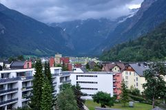 A Glance from Engelberg on Alps Stock Images