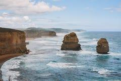 A glance at the Twelve Apostles, Victoria, Australia Royalty Free Stock Photography