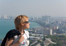 A glance from the view point in Pattaya Royalty Free Stock Photography