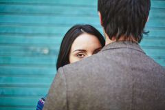Glance Royalty Free Stock Photo