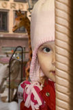 Glancing child stock images