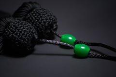 Gland d'épée de Tai Chi sur le fond noir Photographie stock