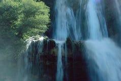 Glandieu vattenfall i savojkål Arkivfoto