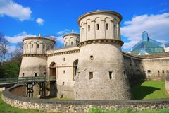 3 Glands Castle,Luxembourg. Beautiful castle in Luxembourg stock images
