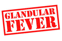 GLANDULAR FEVER. Red Rubber Stamp over a white background Stock Photos