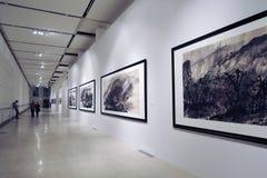 Glans av Uncarved jade Utställning i Moskva Royaltyfri Bild