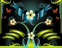 Glans band bloemenvector   vector illustratie