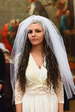 Glans: bride in wedding dress Royalty Free Stock Photography