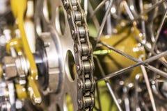 Glans de motorfietsmotor van de ruggegraataandrijving Stock Foto