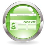 glans för knappkortkreditering stock illustrationer