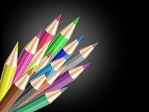Glans kleurenpotlood stock illustratie