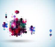 Glansig abstrakt sidaorientering för din presentation. Arkivfoto