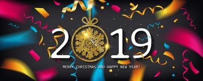 Glansig bakgrund för nytt år stock illustrationer