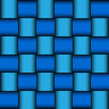 Glansig blå mosaikbakgrund Arkivbild