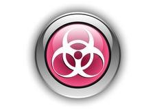 Glansig design för knapp för Biologycal farasymbol Arkivbild