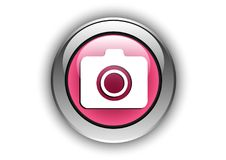 Glansig effekt för kamerasymbolsbegrepp Arkivfoto