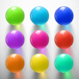 Glansig färgrik sphere-01 Royaltyfri Bild