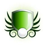 glansig golfsköld för emblem Royaltyfria Bilder