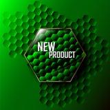 Glansig grön knapp Royaltyfri Fotografi