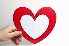 glansig hjärta Royaltyfria Bilder