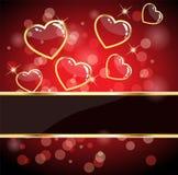 glansig hjärta för kort Arkivfoto