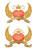 glansig hjärtavektor Royaltyfri Bild