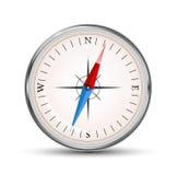 Glansig kompassvektorsymbol på vit stock illustrationer
