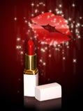 glansig lips2 Royaltyfri Fotografi