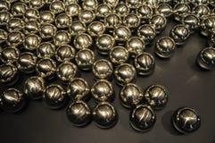 Glansig metallboll Fotografering för Bildbyråer