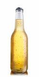 glansig non white för ölflaska arkivbild