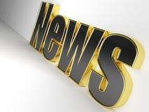 glansig nyheterna 3D Royaltyfri Bild