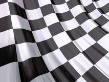 glansig race för slutflagga Arkivfoto