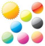 glansig rengöringsduk för element stock illustrationer
