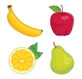 glansig set för frukt Royaltyfri Foto