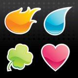 glansig symbol stock illustrationer