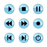 glansig symbolsspelare Arkivfoton