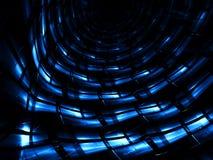 Glansig tunnel - frambragd bild för abstrakt begrepp digitalt Royaltyfri Fotografi