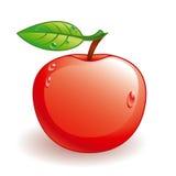 glansig vektor för äpple Arkivfoton