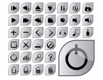 glansiga gråa symboler Royaltyfria Foton