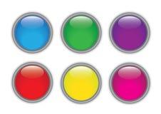 Glansiga knappar Arkivfoton