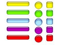 Glansiga knappar vektor illustrationer
